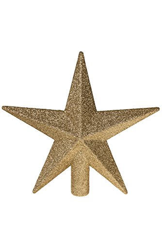 (Clever Creations Gold Star Christmas Tree Topper Festive Christmas Decor | Sparkling Gold Shatter Resistant Plastic | 8