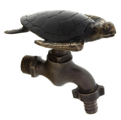 Solid Brass Garden Water Faucet Tap Exclusive Design Turtle (Tap Brass Solid Garden)