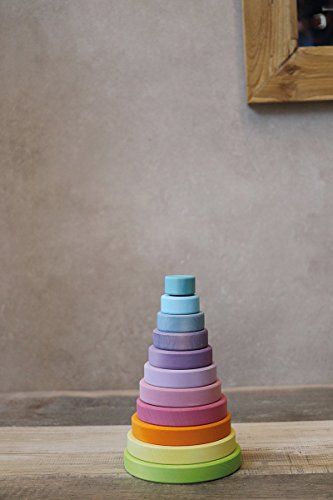 Grimm's Large Conical Stacking Tower - Pastel by Grimm's Spiel and Holz Design (Image #4)