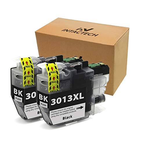 Intactech Compatible Ink Cartridges Replacement for Brother MFC-J491DW LC3013 Ink Cartridges 2 Black BK High Yield Work with MFC-J491DW MFC-J497DW MFC-J690DW MFC-J895DW Inkjet Printer