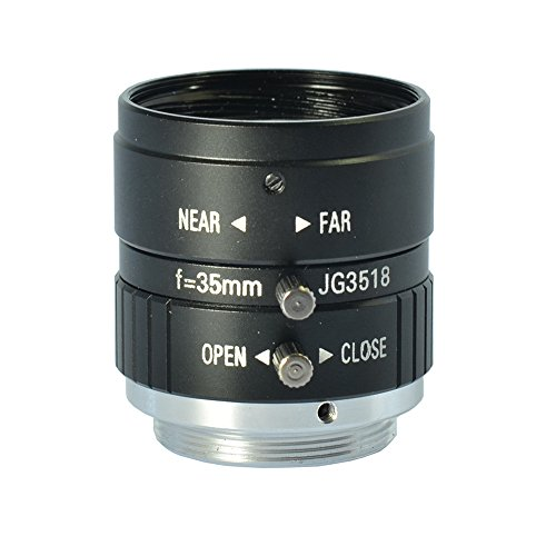 - 5.0MP 35mm F1.8 Manual Zoom Focus Iris C Mount Lens CCTV Lens for CCTV Camera Industry Microscope Camera