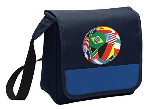 World Cup Fan Lunch Bag Shoulder Soccer Lunch Box by Broad Bay