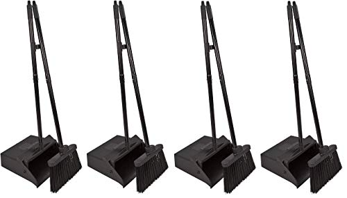 Carlisle 36141503 Duo-Pan Dustpan & Lobby Broom Combo, 3 Foot Overall Height, Black (Fоur Paсk) by Carlisle (Image #9)