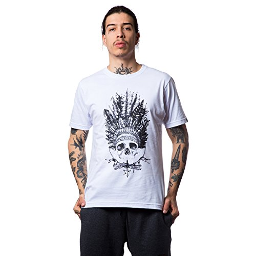 Camiseta Basica Indian Skull 152 - Branco - M