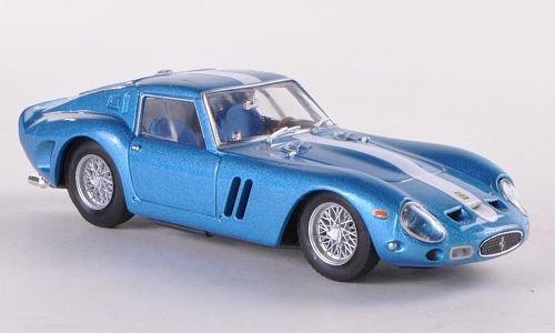 Ferrari 250 GTO, metallic-blau/Decorated, 1962, Model Car, Ready-made, Brumm 1:43