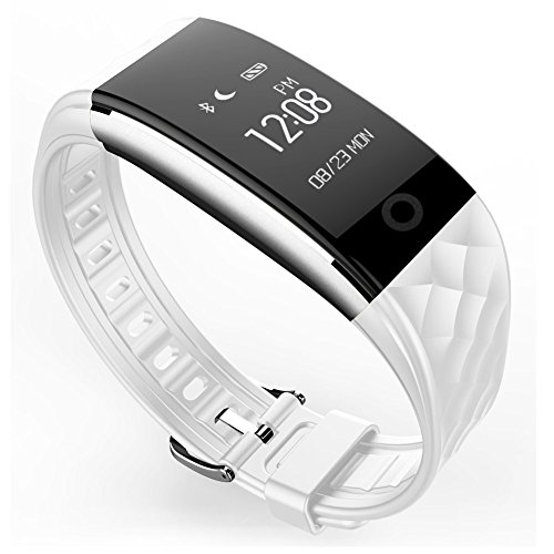 (Baoduohui Waterproof Smart Bracelet Bluetooth Watch IP67 Heart Rate Monitor Sports Wristband Fitness Tracker Multi-Sport Mode Health Pedometer Call Message Reminder for iOS Android Phone)