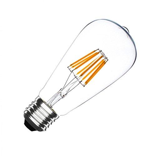 Bombilla LED E27 Regulable Filamento Lemon ST58 5.5W efectoLED: Amazon.es: Iluminación