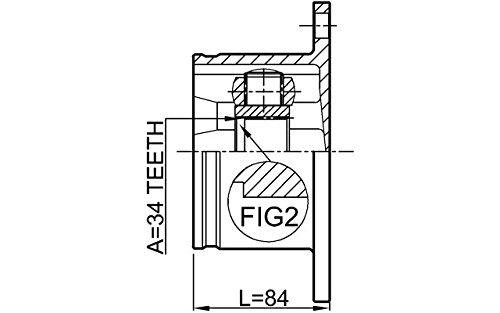 Inner CV Joint Left 34X104 For VW Febest 4B0498103