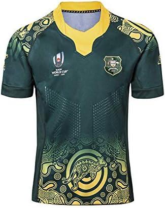 DDZY Jersey de Rugby de 2019 Copa Mundial de Australia en casa y Fuera, Deportes de Verano Transpirable Camisa Casual Camiseta de fútbol Camisa de Polo,Verde,S: Amazon.es: Hogar