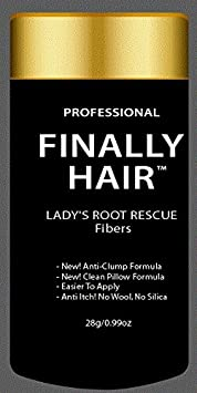 Root Touch up Root Concealer Hair Thickener Cover Roots & Grey Hair for in Between Hair Coloring. Fills in Thin Areas. 28 Gram .99oz Lady's Root Rescue By Finally Hair (Soft Black (softer black)) Finally Hair Corporation