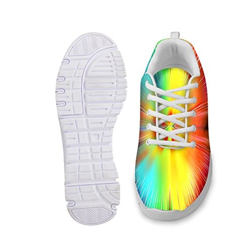 HUGS IDEA HUGSIDEA colorful Womens Fashion Sneakers Lightweight Running Shoes Colorful 2 TWRA7aQK