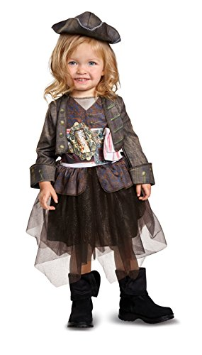 Disney POTC5 Captain Jack Sparrow Inspired Tutu Classic Toddler Costume,  Multicolor,  Small (2T) -