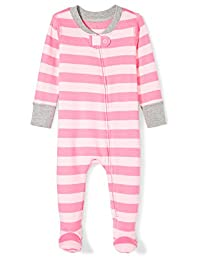 Moon and Back Baby-Girls Baby Organic Footed Zip-Front Sleep and Play