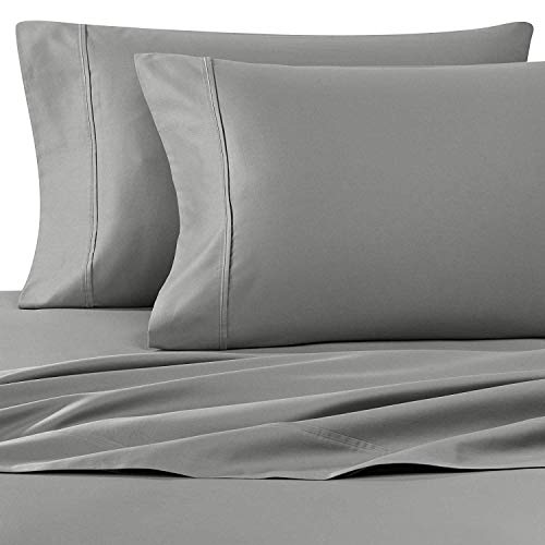 Wamsutta 400-Thread-Count Sateen Queen Sheet Set in Grey