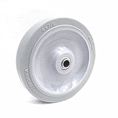 "Colson 4"" x 7/8"" Soft Rubber Wheel, with, 5/16"" ID, Grey, Performa (One)"