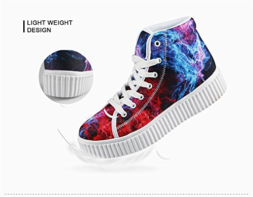 Top Shoes HUGS Fashion Women Flower Butterfly High 2 IDEA Platform Sneakers 80q8wfZx