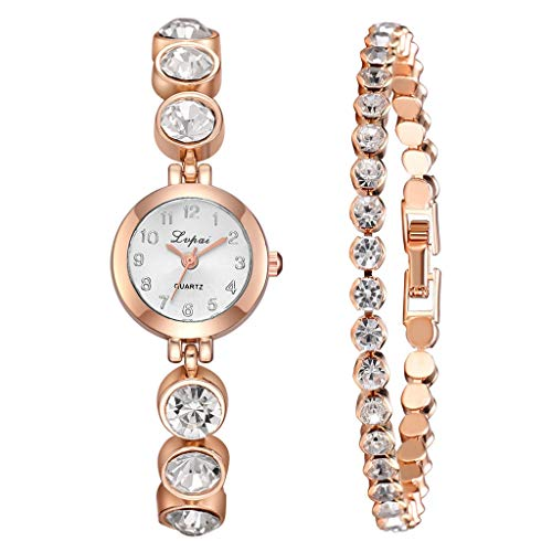 Clearance Sale! Gibobby Ladies Watches,Classic Luxury Quartz Wristwatch Chronograph Chain Strap Analog Wrist Watches with Full Diamond Bracelet Gifts for Women