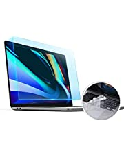 CaseBuy MacBook Pro 16 Screen Protector Anti-Glare Blue Light Filter for 2019 MacBook Pro Touch Bar 16 inch A2141 with Keyboard Cover Ultra Thin TPU Protector
