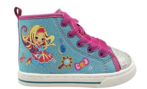 Sunny Day Doll Sneakers for Toddler Girls Shoes High Top Shoe (9) Blue
