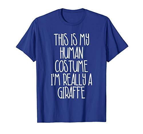 Cute Simple Giraffe Halloween Costume Shirt for Girls