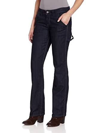 Dickies Women's Relaxed Fit Denim Carpenter Pant, Indigo Blue, 16 Tall