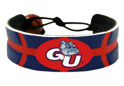 NCAA Gonzaga Bulldogs Team Color Basketball Bracelet
