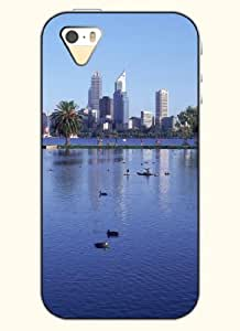 OOFIT Phone Case Design with The City'S Lakes for Apple iPhone 4 4s 4g