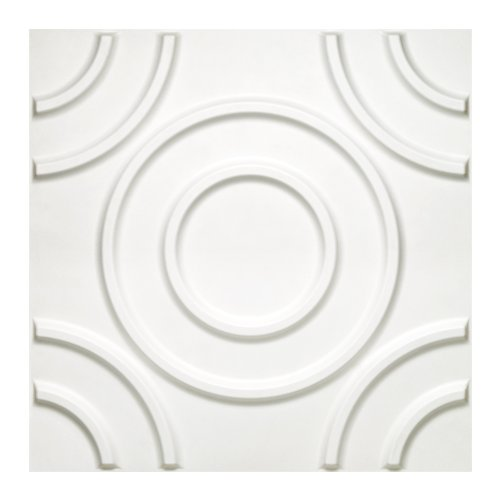 Donny Osmond Home 3DWTCRCL06 Circles 3D Self Adhesive Wall Tiles, 10-Pack