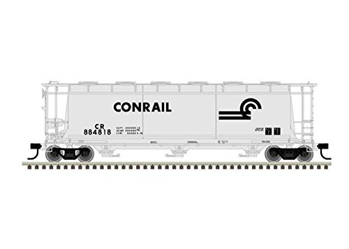 Atlas Master 20004362 HO Scale Ready to Run ACF(R) 3-Bay Cylindrical Hopper, Conrail CR #884818 - Conrail Hopper