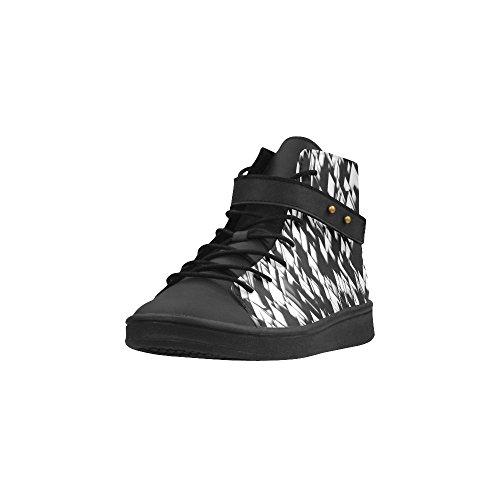 D-story Bout Rond Chaussures À Talons Hauts Superbes Baskets Noires Et Blanches Pour Femmes