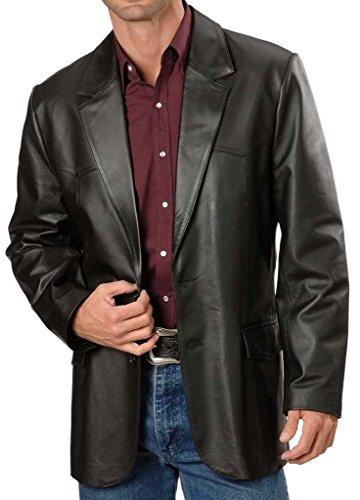 Black Leather Blazer Mens - 8