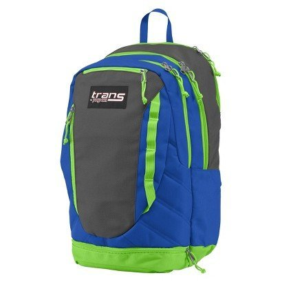 Trans JanSport Capacitor Backpack; Blue, Grey and Neon Green (Neon Trans Green)