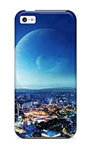 Hot Iphone 5c Case, Premium Protective Case With Awesome Look - City Night Fantasy 7866284K74296876