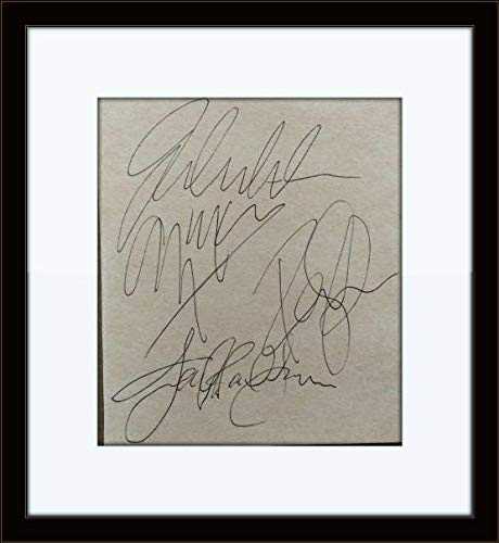 Framed Led Zeppelin Band Authentic Autograph with Certificate of Authenticity