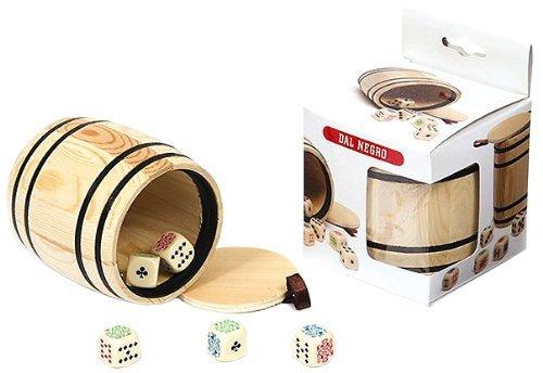 Poker Dice in Wooden Barrel Shaker by Dal Negro