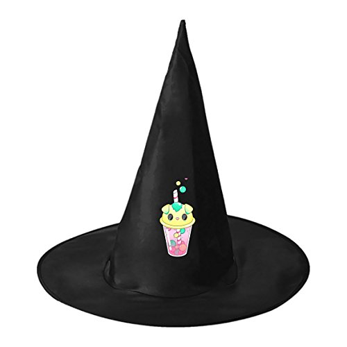 Costumes Halloween Pictures Funniest (Halloween Witch Hat Caps Decorations Cute Juice Adult Womens Black Witch Hat For Halloween Christmas Party Costume)