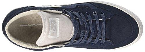 DrunknMunky Herren Boston Classic Hohe Sneaker Blu (Navylight Gray)