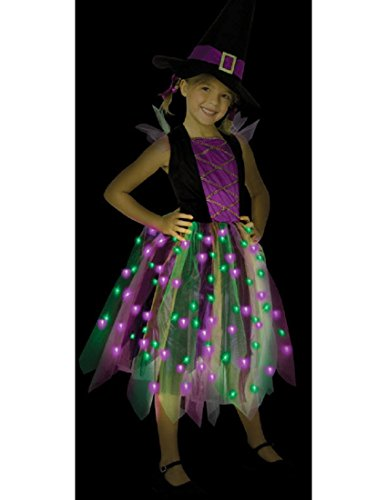 [Light Up Rainbow Witch Ch12-14 - LF3083CLG] (Girls Light Up Witch Costume)