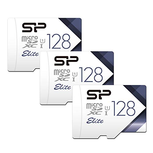 Silicon Power 128GB 3-Pack High Speed MicroSD Card with Adapter