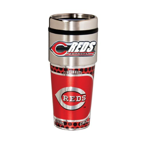 Cincinnati Reds 16oz. Stainless Steel Travel (Cincinnati Reds Mug)