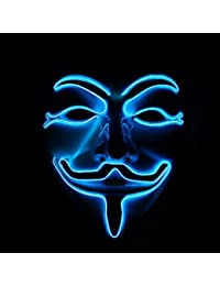 Emazing Lights EmazingLights Costume Light Up Adult Masks - Jig Saw & Guy Fawkes Anonymous Masks - 3 Awesome LED Modes