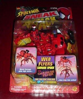 Spider-Man Sneak Attack: Web Flyers: Carnage SPider with Carnage Flyer Plus Sneak Attack Sticker [並行輸入品]   B077YQH2K3