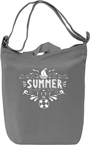 Summertime Borsa Giornaliera Canvas Canvas Day Bag| 100% Premium Cotton Canvas| DTG Printing|
