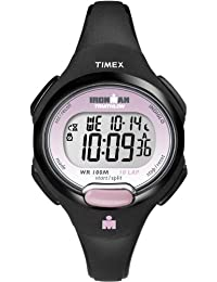 Timex Women's T5K522GP Ironman Traditional 10-Lap Black Resin Strap Watch