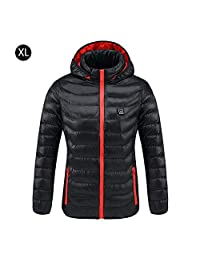 Bulary Outdoor Graphene Electric Heated Down Jacket USB Rechargeable Temperature Heating Coat Electric Heated Jacket USB Constant Temperature Heating Carbon Fiber Warm Winter Coat
