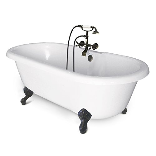 American Bath Factory CC-DC-B-OB Chelsea Collection Double Ended Tub Package