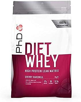 PhD Proteína de Suero Nutricional para Dieta en Polvo Bajo en Calorías, Sustituto de Comidas Rico en Proteínas Bajo en Azúcar con Fibra para Batidos ...
