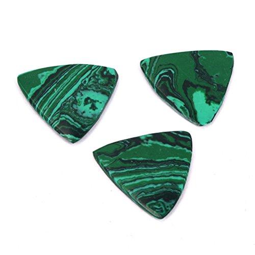 [해외]ROSENICE 기타 3 개 스톤 톤 세미 하드 럭셔리 기타 선택 말라카이트 설계/ROSENICE Guitar Picks 3 Pcs Stone Tones Semi Hard Luxury Guitar Pick Malachite Design