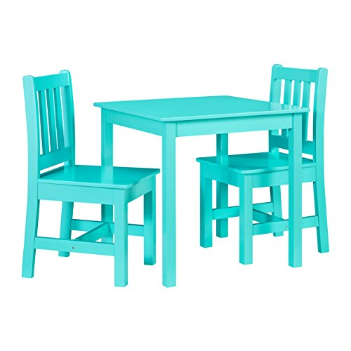 Linon 3-Pc Jaydn Kid Table Set in Teal - Linon Pine Table