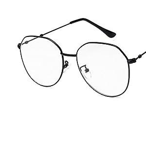 polygon flat mirror retro irregular metal glasses frame myopic glasses
